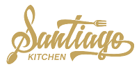 Logo - Santiago Kitchen-white200gold