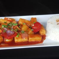 SWEET AND SOUR TOFU WITH VEGETABLES1